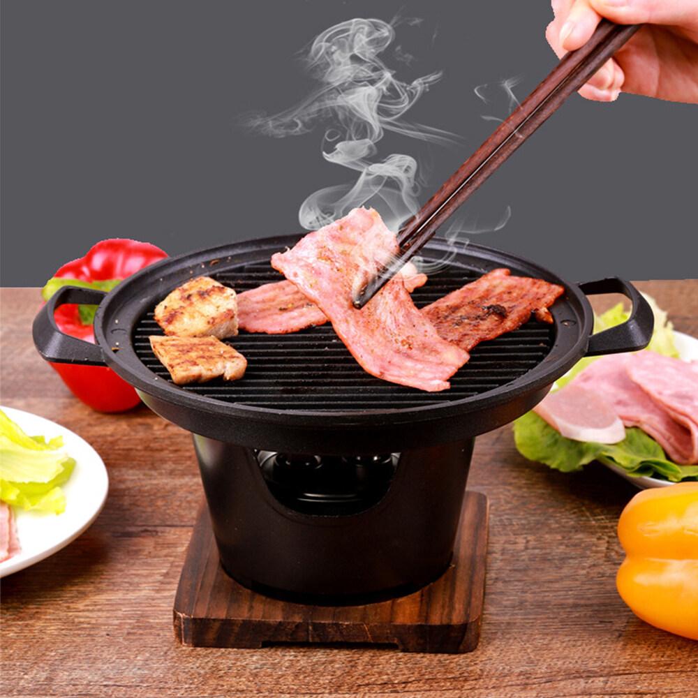Nướng Sáng Tạo Phong Cách Nhật Bản Bữa Ăn Đơn, Lò Nướng Mini Tại Nhà, Bếp Cồn Khung Gỗ Gia Dụng Lò Nướng Mini Quà Tặng Thịt Nướng Hàn Quốc