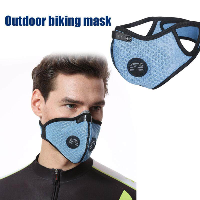 MWM Store Motorcycle Riding Mask Solid Color Grid Mesh Blue Mask Outdoor Riding Outdoor Sports Dustproof Durable Hiking Bike Headwear