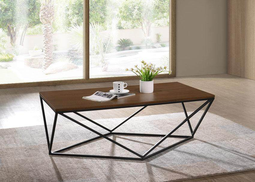 Coffee Table With Metal Leg By Recafi Furniture.