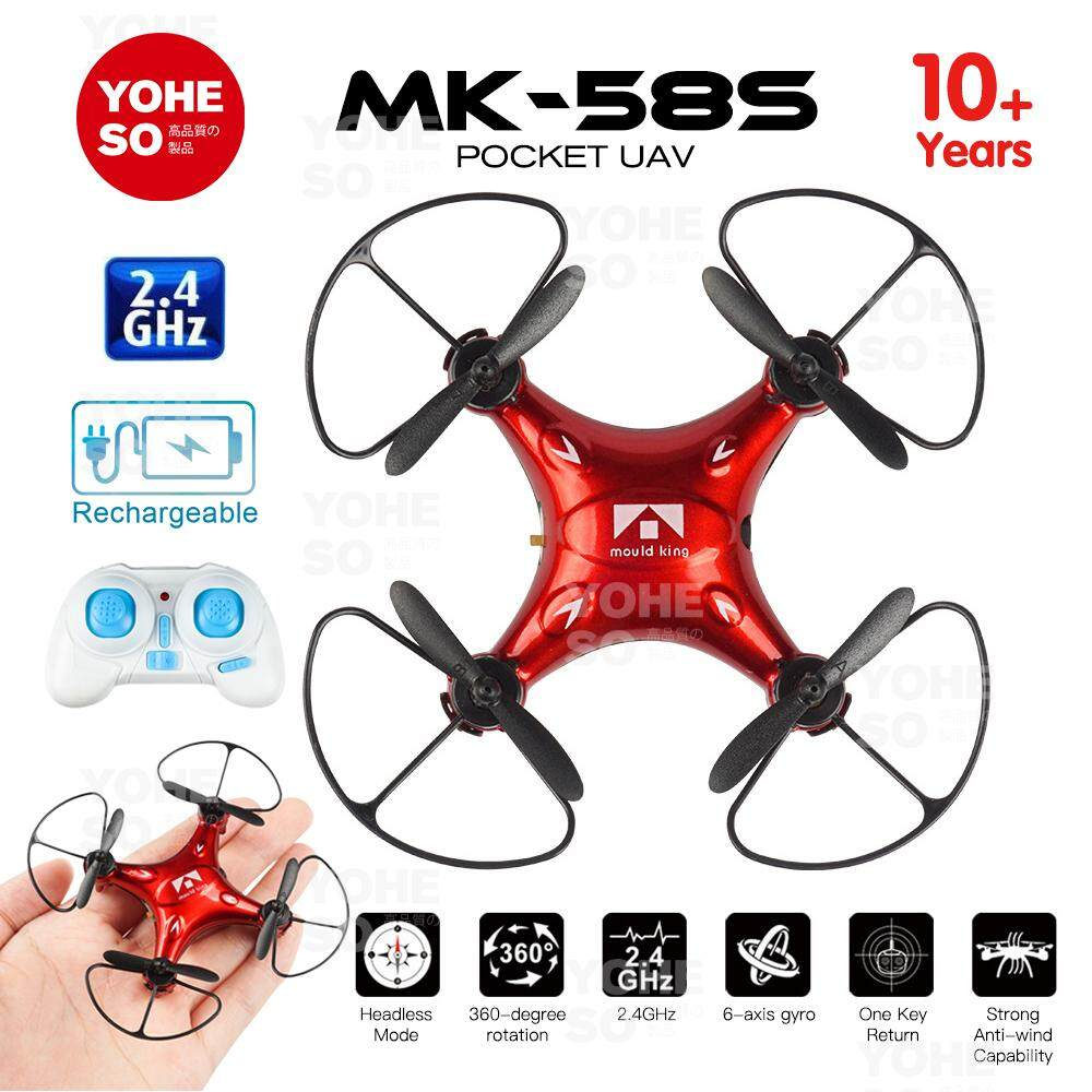 Yoheso Kids 360 Flips 6-Axis Gyro Mk-585 Pocket Uav Mini Drone Quadcopter Toy By Yoheso.