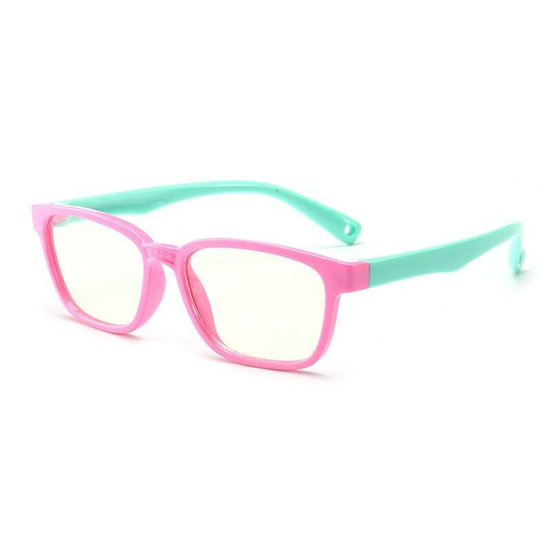 7104e10a2632 Diotem 2019 new Baby Anti-Light Blue Silicone Glasses Brand Children Soft  Frame Smooth Glasses