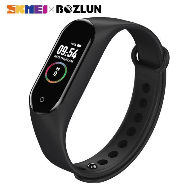 SKMEI BOZLUN Smart Watch For Women Men Bracelet Sport Fitness Tracker Pedometer Heart Rate Blood Pressure Bluetooth Smartband IOS Android M4 Malaysia