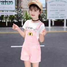 Cô Gái mới Đai Quần, Trẻ Em Treo, phiên bản Hàn Quốc của Trẻ Em Mùa Hè Quần Short, Quần Bé Gái Tây Hóa Phù Hợp Với