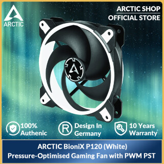 ARCTIC BioniX P120 (Trắng)-Quạt Chơi Game Tối Ưu Hóa 120 Mm Với, PWM PST ACFAN00116A thumbnail