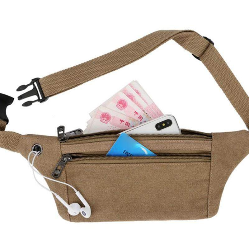 80b9aee7df4a [Jisupei][COD][Freeshipping for Any 3 items]Men Sport Canvas Belt Bag Women  Waterproof Running Phone Bag