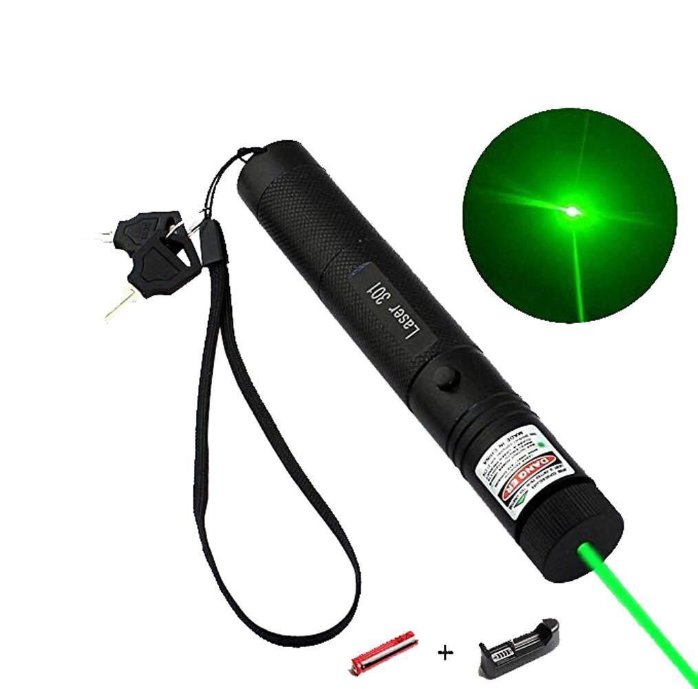 Myanswer Green Laser Pointer Pen Adjustable Burning Match Flashlight Torch 18650 Battery Free Shipping By Myanswer.