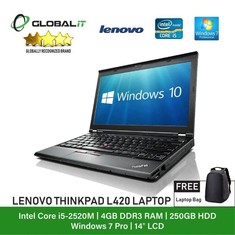 (Refurbished Notebook) Lenovo Thinkpad L420 Laptop / 14 inch LCD / Intel Core i5-2520M / 4GB Ram / 250GB HDD / WiFi / Windows 7 Malaysia