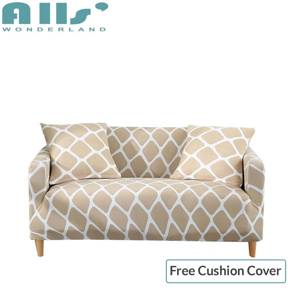 【Slipcover】(3 Seater )Super Elastic Sofa Cover Stretch Sofa Cover 3 Seater Spandex Protector Slipcover Skin-friendly Easy To Install(AGFX)