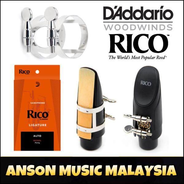 Rico Ligature & Cap, Alto Saxophone, Nickel (RAS1N) Malaysia