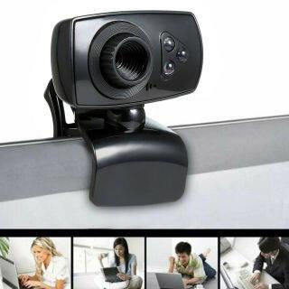 webcam Full HD 50MP Máy Quay Video USB 3 Đèn LED Có Micrô Cho Máy Tính Để Bàn Máy Tính Xách Tay Kẹp (Hàng Có Sẵn) thumbnail