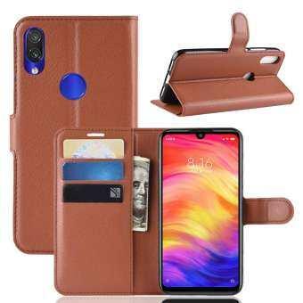 พรีเมี่ยมหนัง Flip กระเป๋าสตางค์เคสเคสโทรศัพท์สำหรับ Xiaomi Redmi Note 7