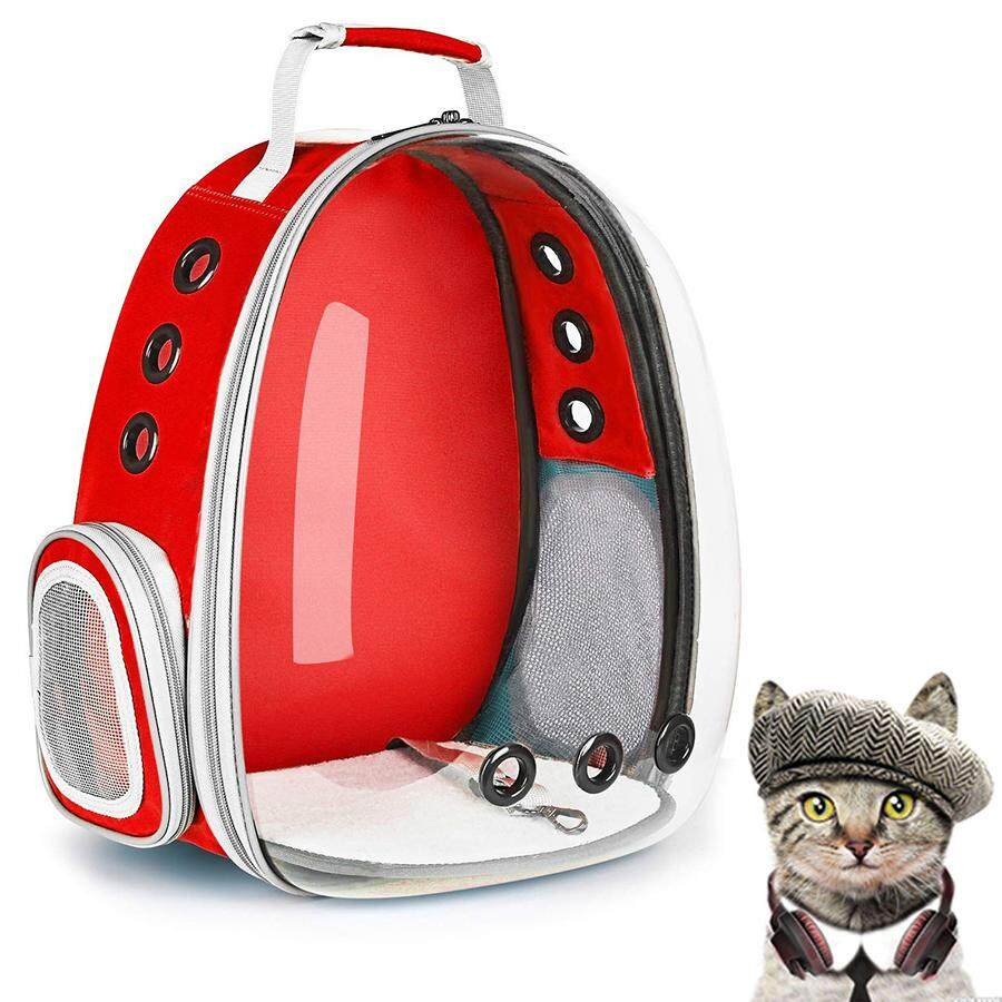 Transparent Pet Carrier Waterproof Puppy Travel Bag Breathable Airline  Approved Space Capsule Backpack for Cat Dog 56e556f4d6e36