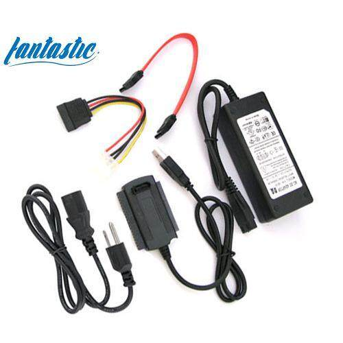 SATA/IDE to USB 2.0 Adapter Converter Cable for 2.5/3.5 Hard Drive Black 1PCS