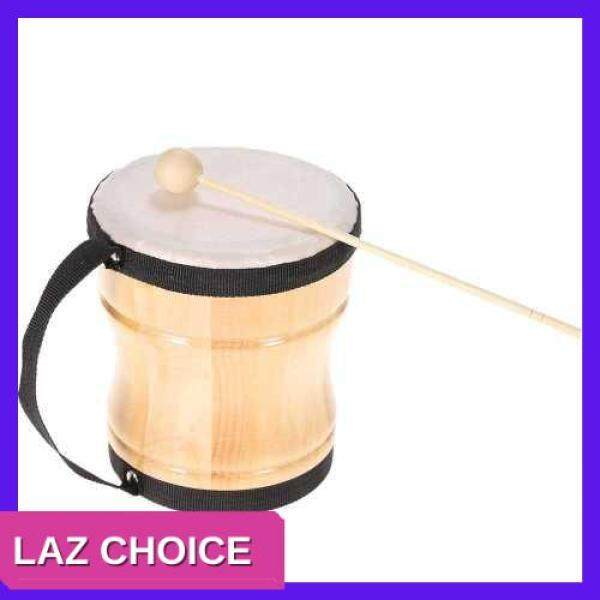 LAZ CHOICE Kids Children Wood Hand Bongo Drum Musical Toy Percussion Instrument with Stick Strap (Other) Malaysia