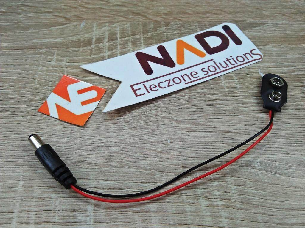 9v Battery Connector To Dc Jack - 9 Volt Arduino Pic By Nadi-Electronic-Shop.