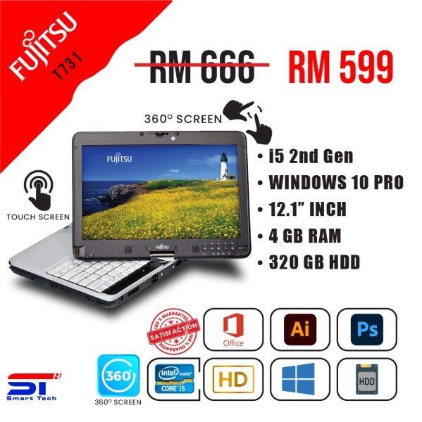 """LAPTOP MURAH  Fujitsu T 731 - i5-2nd Gen 4GB   320GB RAM   HDD) - 12.1"""" INCH   Touch Screen Malaysia"""