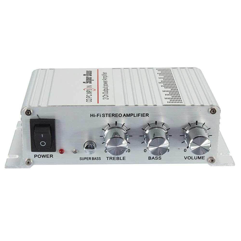 Oem Amplifier Mini, Home Audio Stereo Hi-Fi Penguat Daya, 2 Chanel Digital Kelas D Bass Yang Kuat Streaming Musik Amp Untuk Speaker Pc Tv Handphone Kendaraan Mobil (14*9.8*4.1 Cm) By Oaken.