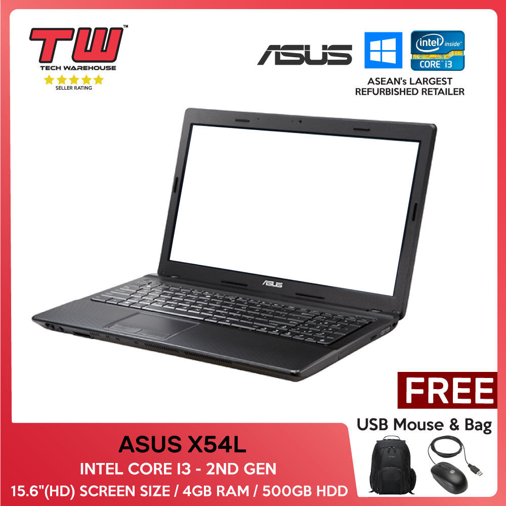 ASUS X54L / INTEL CORE I3 - 2ND GEN/LAPTOP/15.6/4GB RAM/500GB HDD/TECH WAREHOUSE (FACTORY REFURBISHED) Malaysia