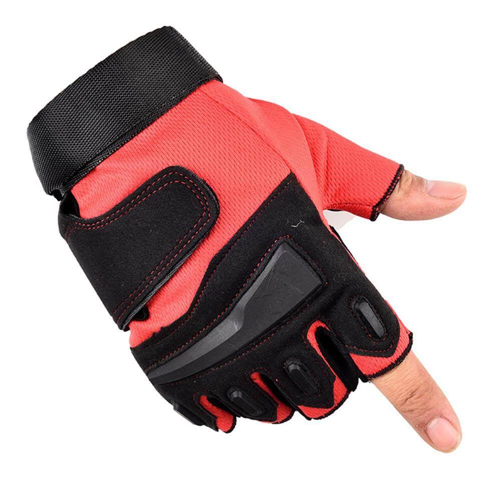 1Pair Men Cycling Gloves Bike Half Finger Gel Padded Fingerless Outdoor Sports