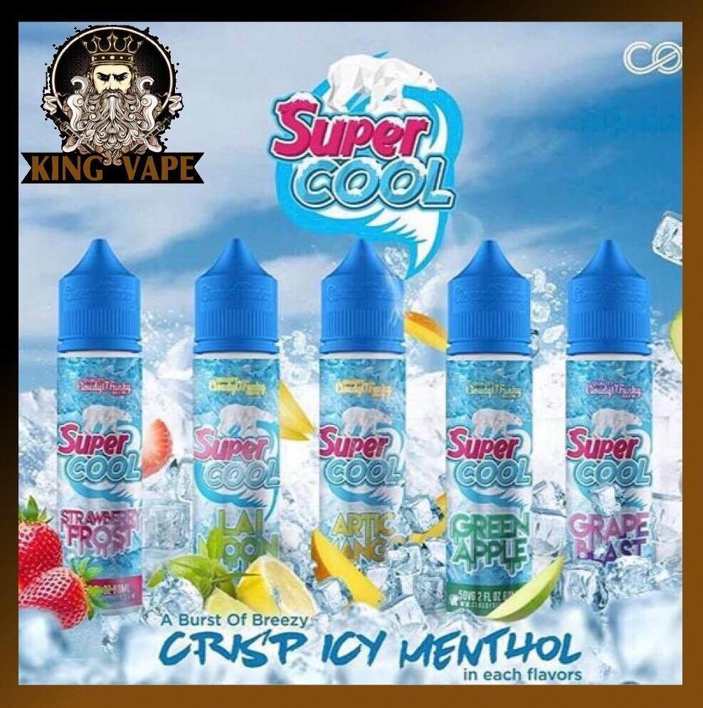 Supercool Artic Mango / Strawberry / Lai Moon / Green Apple / Grape Blast Fruity Flavour Mint Cold Super Cool Ejuice Eliquid 6MG 60ML Malaysia