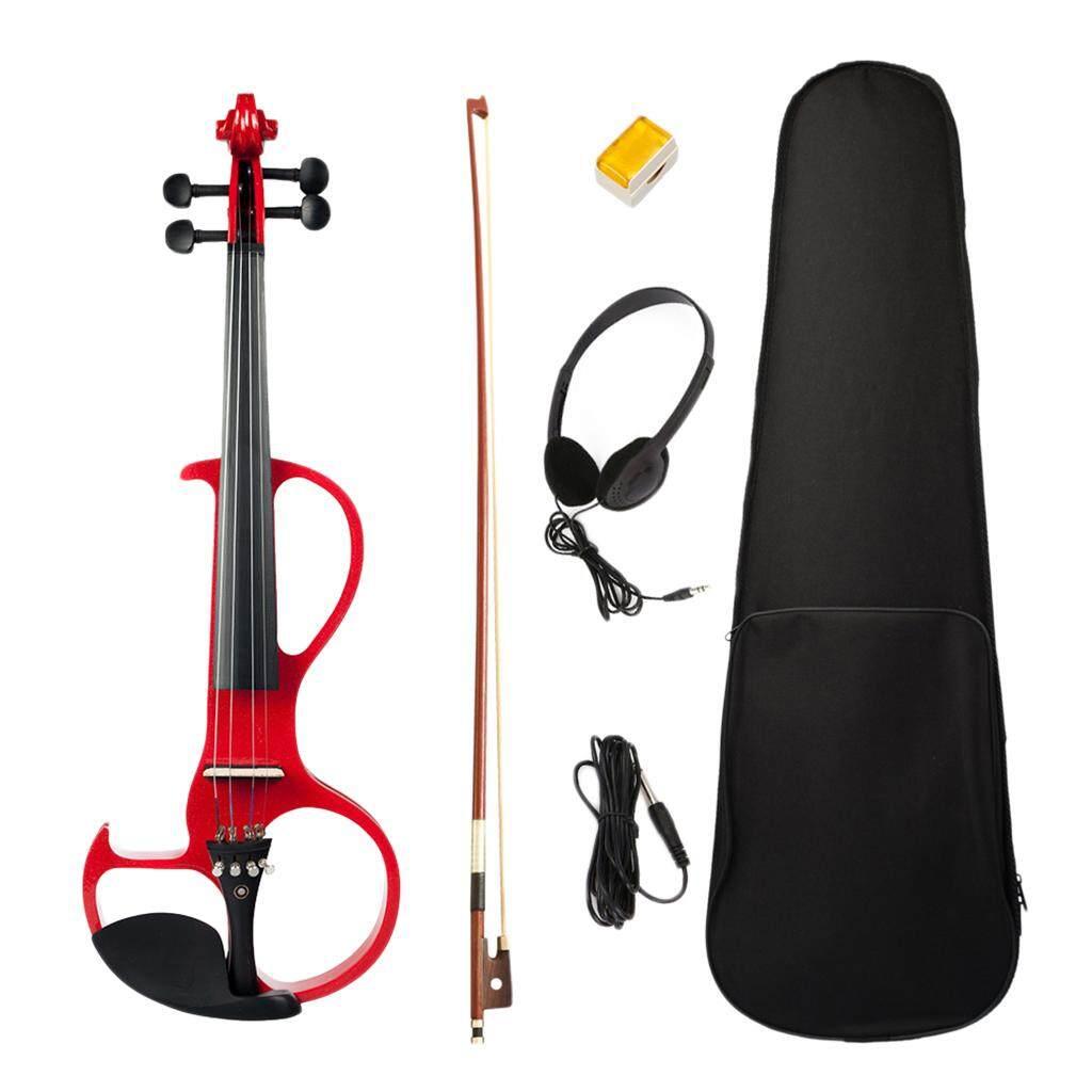 Baoblade Full Size 4/4 Điện Violin Fiddle với Tai Nghe Mang Ốp Lưng Nhựa Thông Nơ Bộ