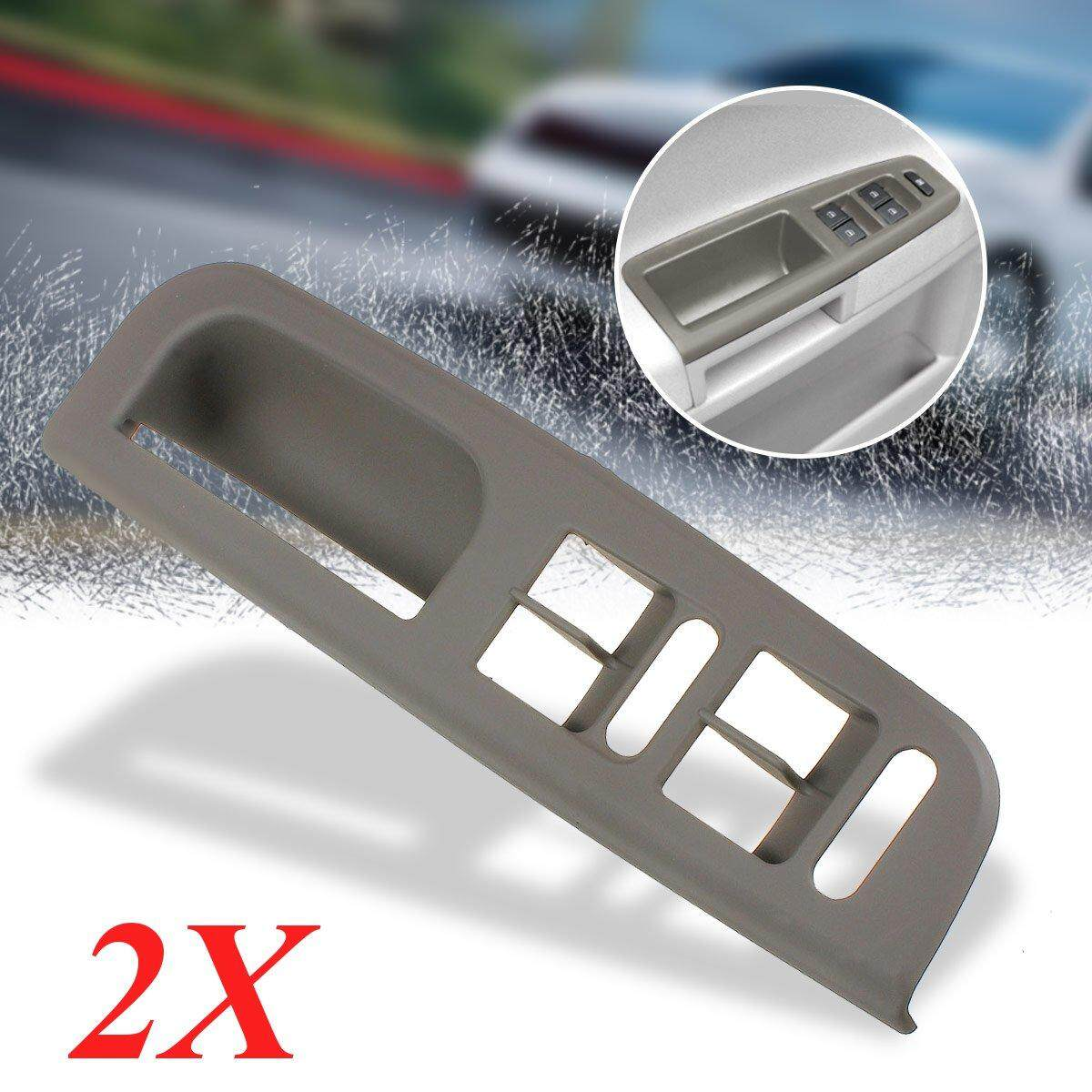 【free Shipping + Flash Deal】2pcs Grey Master Window Switch Control Panel Trim Bezel For Vw Passat Jetta Golf Mk4 By Audew.
