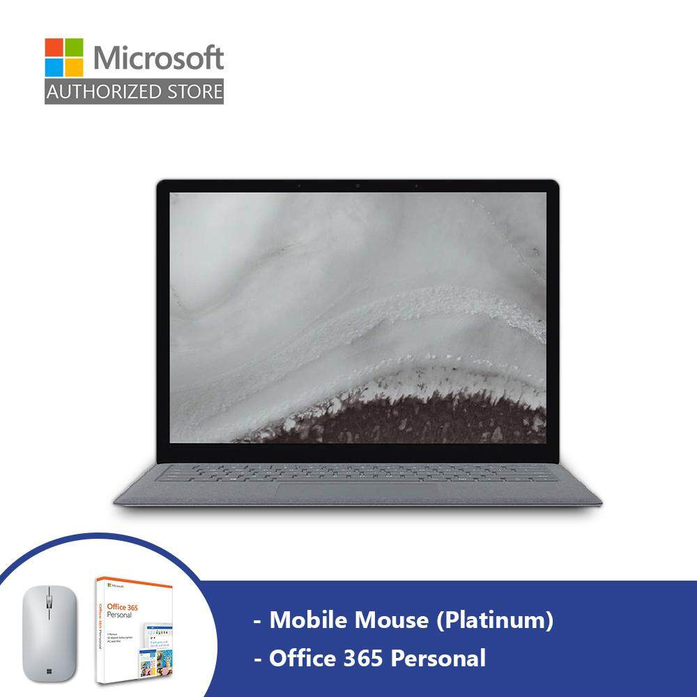 Microsoft Surface Laptop 2 - Platinum (i5/8GB/256GB/13.5-inch) + Mobile Mouse (Platinum) + Office 365 Personal Malaysia