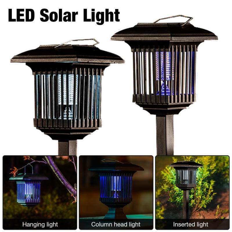Đèn LED Năng Lượng Mặt Trời Chống Nước Đèn Diệt Muỗi Diệt Côn Trùng Ánh Sáng Cho Bãi Cỏ Sân Vườn
