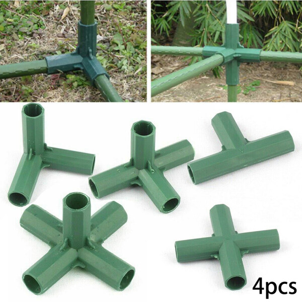 Nicehome 4Pcs Connectors Garden Awning Joints Greenhouse Green 16mm Plant Climbing Useful