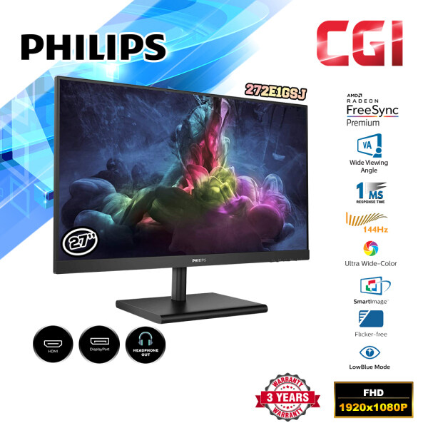 Philips 272E1GSJ 27 1ms 144Hz FHD FreeSync VA LED Gaming Monitor Malaysia