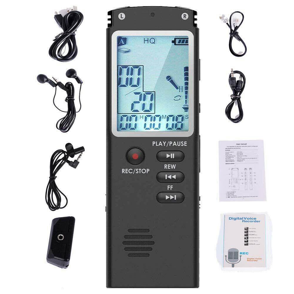 Voice Activated Mini Digital Sound Audio Recorder Dictaphone MP3 Player