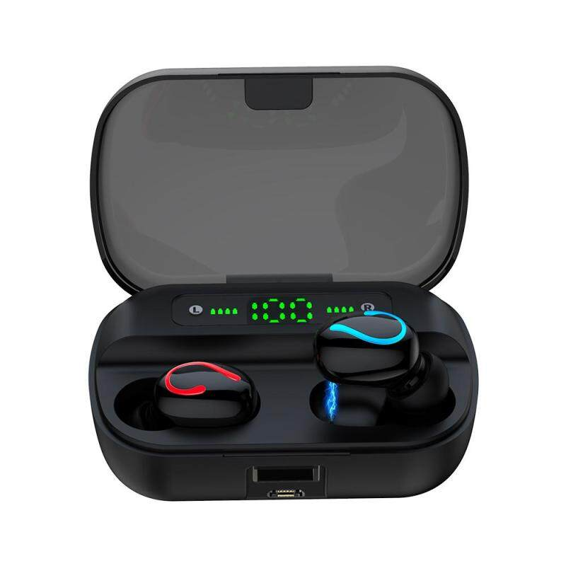 niceEshop Q65 TWS Wireless Bluetooth 5.0 Earphones Waterproof IPX7 Waterproof 2600mAh Charging Case 9D Stereo Earphone LED Display Singapore