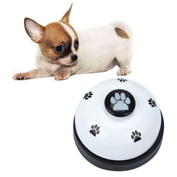 [Sẵn sàng] huấn luyện chó gọi chuông bằng thép không gỉ hình bóng Paws in bữa ăn cho ăn Giáo Dục Công cụ đào tạo chó con