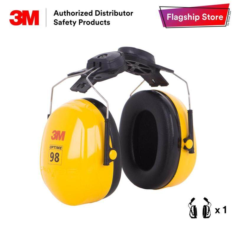 3M H9P3E Peltor Optime 98 Series Cap-Mount Safety Ear Muff/ Earmuff/ Hearing Protection Noise Reduction Rating (NRR) 23 dB/CSA Class A/ ONLY Compatible with 3M H-700 Series Helmet [1 Unit]