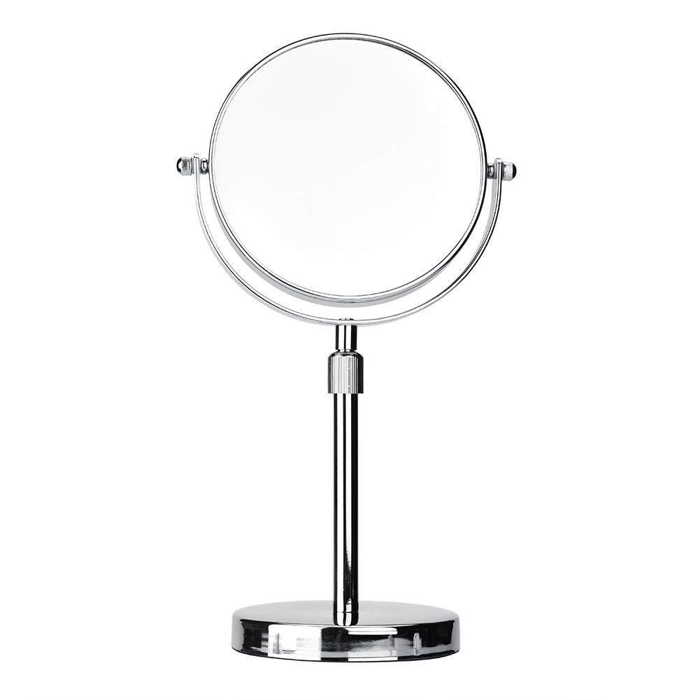 epayst[ready stock] 6 inch Có Thể Thu Vào Gương 2 Mặt Cao Cấp Chiều Cao Có Thể Điều Chỉnh Xoay Được Gương Trang Điểm(Silver)