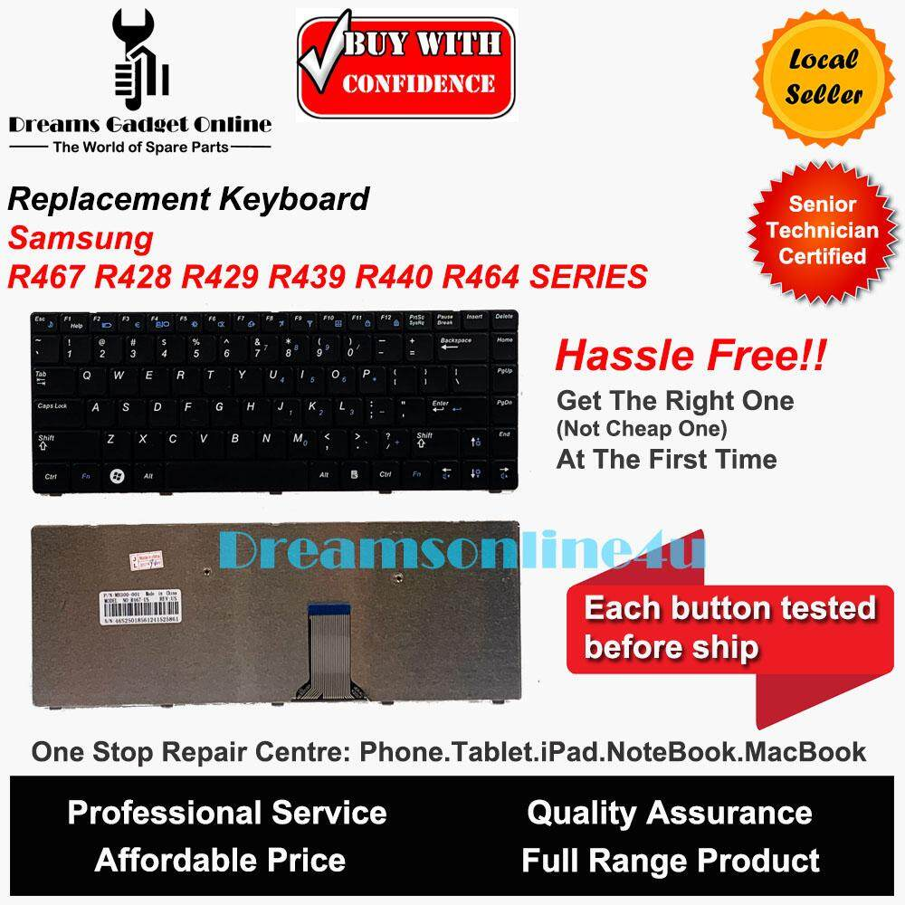 Replacement Keyboard for Samsung R467 R428 R429 R439 R440 R464 Series Malaysia
