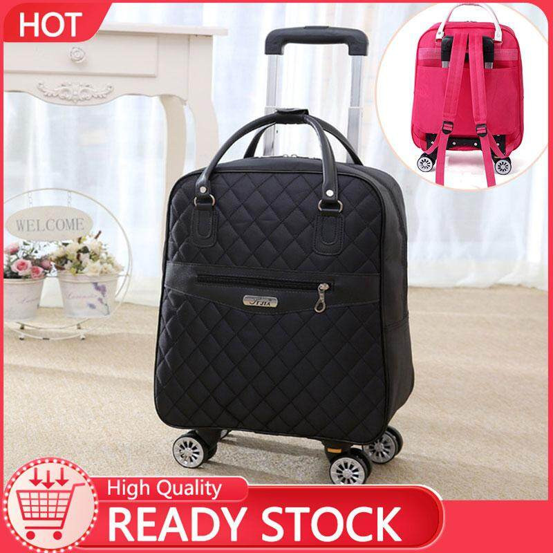 Johnn fashion suitcase trolley bag travel bag Korean shoulder bag waterproof Oxford cloth can be folded folding light travel bag travel large capacity backpack