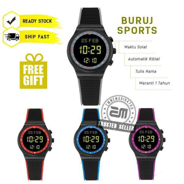 Jam Azan Digital Jam Tangan Solat Kiblat Islamic Prayer Alarm Watch Casual Fashion Water Resistant Buruj Sport Buruj Watches Malaysia
