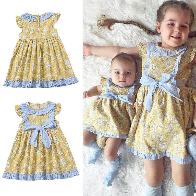 e1b3df7ae071 Product details of Fresh Floral Flying Sleeve Baby Girl Dress Mini Summer  Kids Cute Dresses Lovely Children Clothes