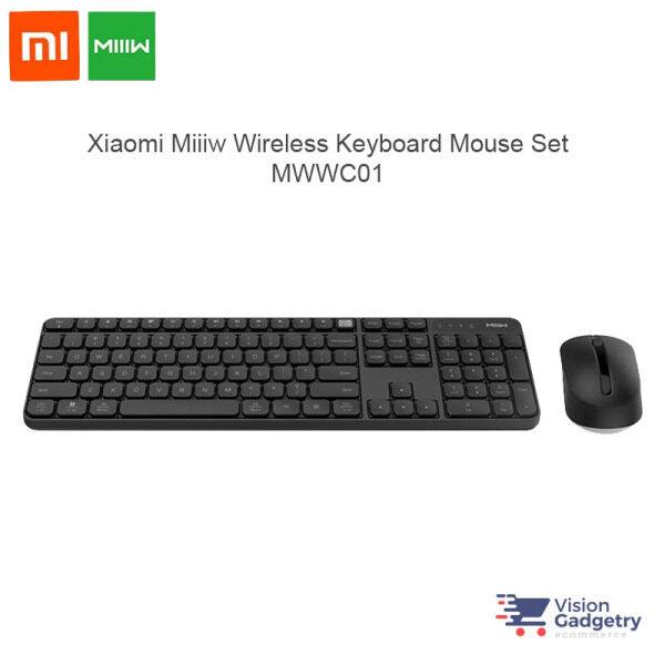 Xiaomi Miiiw Wireless Keyboard Mouse Set 104 keys 2.4ghz IPX4 Splashproof MWWC01 Malaysia