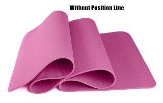 Thảm Yoga TPE 6MM Thể Dục Thể Thao Chống Trượt Giảm Cân Tập Gym Pilates Thảm Tập Thể Dục Cho Người Mới Bắt Đầu 183 61Cm Estera De thumbnail