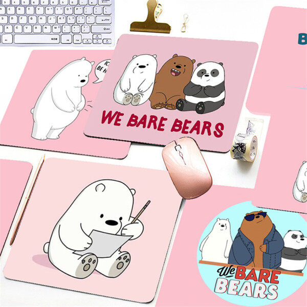 Cartoon Bare Bear Printed Mouse Pad Game Office Home Multimedia Computer Keyboard Non-slip Mouse Pad Malaysia