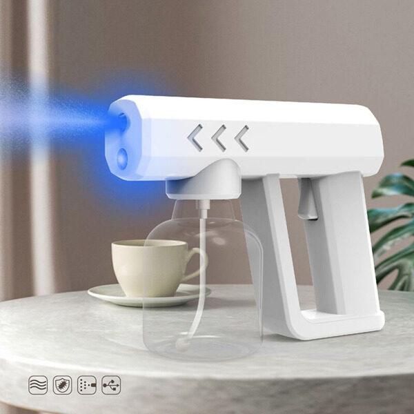 Perfk 250ml Wireless Blue Light Nano Steam Spray Disinfection Fogger USB charging