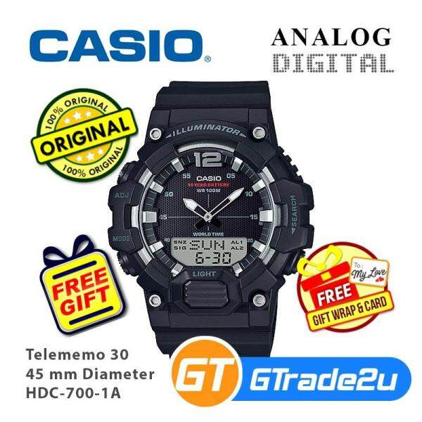 Casio Mens HDC-700 Analog Digital Watch Special Military Green Color Malaysia