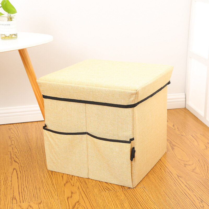 Bedroom Large Foot Stool Storage Box Furniture Seat Table Blanket Rest Cube Fold