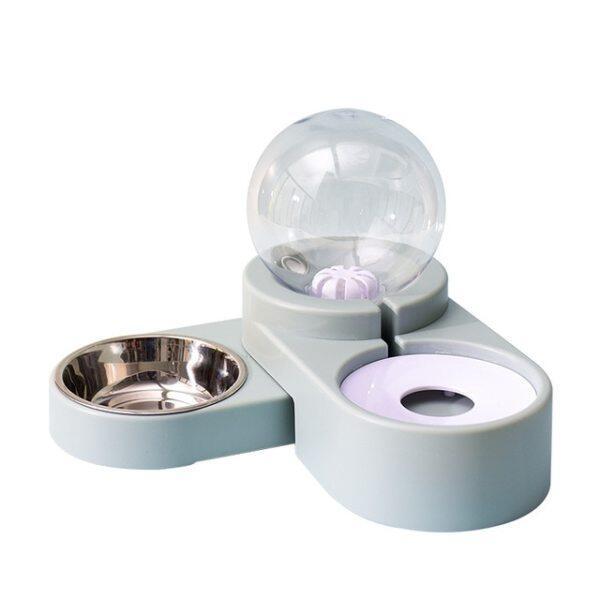 New Bubble Bát Cho Thú Cưng Thức Ăn Cho Mèo Bộ Nạp Tự Động 1.8L Đài Phun Nước Cho Uống Nước Lớn Duy Nhất Bát Dog Kitten Ăn Container