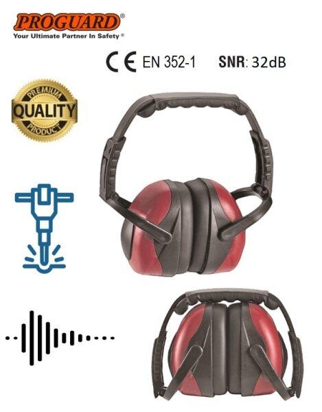 SQUARO SNR 32dB Lightweight Adjustable Foldable Earmuff Headset Hearing Protection Noise Reduction PC08FEM PROGUARD