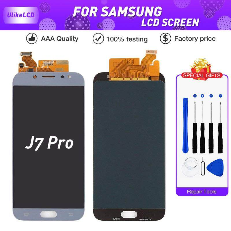 For Samsung Galaxy J7 Pro 2017 J730 J730F LCD Display Touch Digitizer  Assemble J730F LCD With brightness control