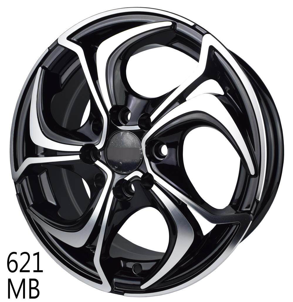 621 15 Sports Rim 8h100/110 Matte Black By Race Tec.
