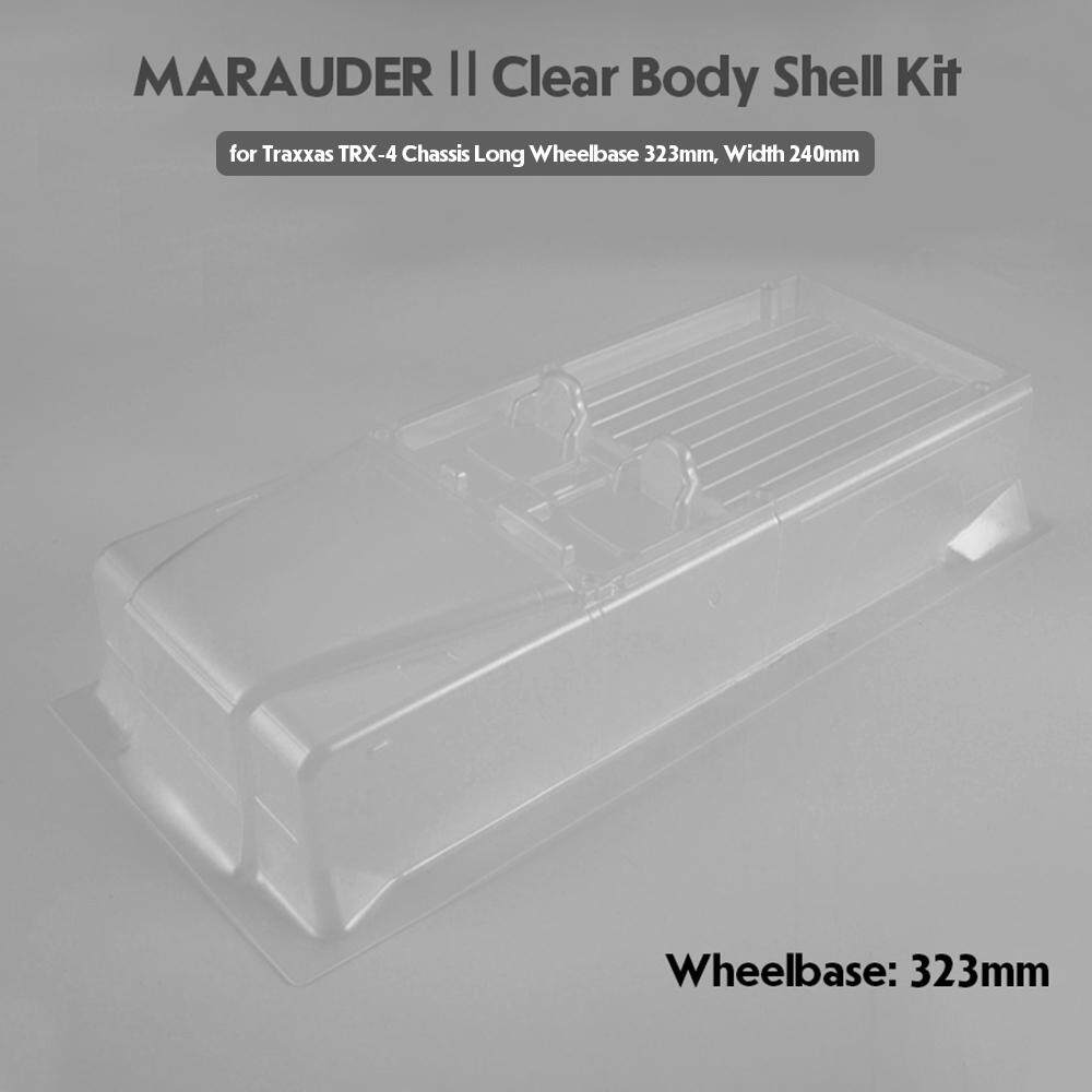 Killerbody RC Car Clear Body Shell Kit w/ Light Buckets for 323mm Wheelbase Traxxas TRX-4 Chassis RC Crawler Off-road